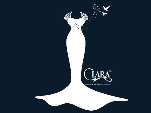 Illustrazione di un abito da sposa a sirena